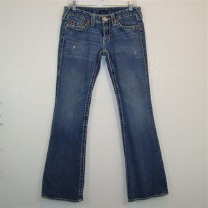 True Religion Bobby Big T Distressed Lo Rise Jeans